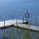 Badbrygga i Sjön Hindsen Småland
